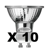 Pack of 10 GU10 50w Halogen Reflector Spotlight Lamp Spot Light Bulb Bulbs