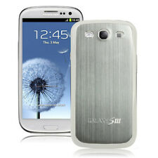 Hülle f Samsung Galaxy S3 i9300 Aluminium Deckel Case Cover Backcover silber