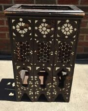 19th Century Ottoman Turkish,SYRIAN mother of pearl inlaid Wood Table Stand