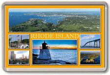 FRIDGE MAGNET - RHODE ISLAND - Large - USA America TOURIST