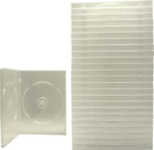 (25) DVBR14DOCL Clear Standard Double DVD Boxes CASES 2DVD NEW Booklet Clips