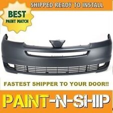 Fits; 2004 2005 Toyota Sienna Front Bumper Painted to Match (TO1000272)