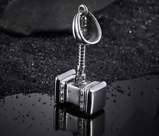 Cool Mens Stainless Steel Vintage Biker Thor  hammer Pendant Necklace Chain 22''