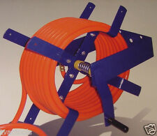 100 Ft. Wall Mount AIR HOSE REEL 3/8 and 1/2 tool new O manual crank