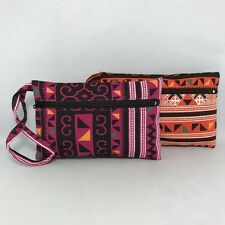 2 PCS HOT NEW THAILAND BEAUTIFUL TRIBAL COSMETIC BAG CLUTCH  PURSE & WALLET #6