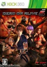 Used Xbox 360 Dead or Alive 5 MICROSOFT JAPAN JP JAPANESE JAPONAIS IMPORT