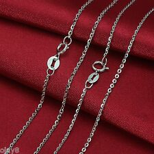 New Fashion Pure Au750 18K White Gold Chain Women's O Link Necklace 15.7inch