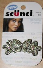 SCUNCI GENUINE CRYSTAL BARRETTE~NEW IN ORIGINAL PACKAGING