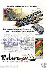 Parker Duofold Perl XL Reklame von 1929 Füller Federhalter Heidelberg Dossenheim