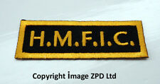 P1 HMFIC Head Mo Fo In Charge Iron on Patch Military  Army Biker Boss Gaffer