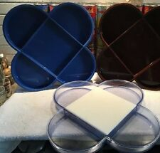 Set of 2 vintage Dansk blue & clear plastic serving trays by Gunnar Cyren