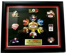 2006 Kelloggs Olympic Pin Collection Limited Edition 1464/2000 Framed 14 Pins US