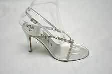 Fabulous Gina silver diamonte strappy sandals UK 7 BNWT, RRP £425 (3971)