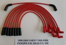 CHEVY VORTEC 5.7L/350 5.0L/305 1996-2000 PICKUPS 1500-2500 RED Spark Plug Wires