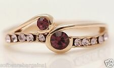 LADY'S GOLD FILLED AMETHYST FASHION RINGS. SHIPS FAST AND SHIPS FREE!