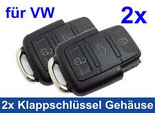 2x 3Tasten Gehäuse für VW Volkswagen Klappschlüssel Schlüssel Funk Ersatz FB