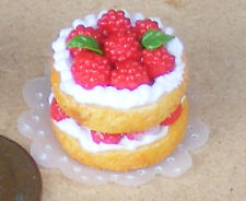 1:12 Scale Victoria Fruit Sponge Cake Dolls House Miniature Bakery Accessory 5