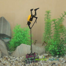 Cute Treasure Hunter Diver Action Figure Fish Tank Ornament Aquarium Decoration