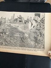 M5-6 ephemera  WW1 1918  picture la bassee mine crater