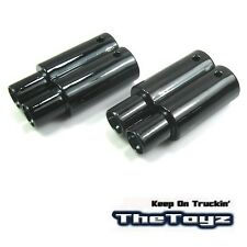 Plastic Twin Exhaust Pipe Dummy 1/10 RC Drift Touring On-Road Car Toyz233 Black.
