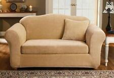 Sofa Antique Gold Sure fit surefit Stretch Royal Diamond two Piece Slipcover