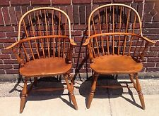Pair Of Vintage High Back Saybolt Cleland Phila Penna Windsor Chairs