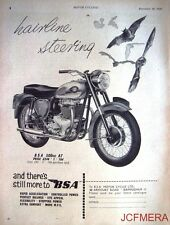 1959 Motor Cycle ADVERT - B.S.A. '500cc A7' (£249-1s-10d) Print AD