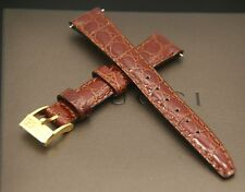 New Gucci 13 MM Burgundy Genuine Leather Watch Band - (13.106S)