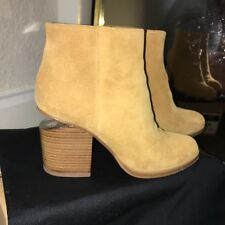 Alexander Wang Gabi Cut Out Heel Tan Suede Ankle Boots