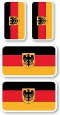 Vinyl sticker/decal Extra small 45mm & 35mm Germany crest flags - group of 4