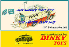 Dinky Toys Police Ford Transit Accident Unit A3 Size Poster Advert Sign Leaflet