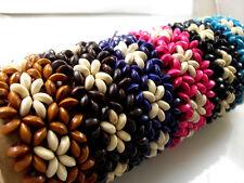 wholesale jewelry lots 12 pcs wood wristband  style bracelet elastic