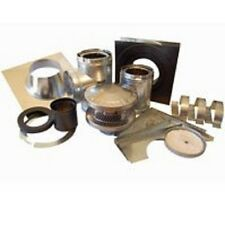 """NEW AMERI-TEC 6HS-TWK 6"""" INSULATED CHIMNEY STOVE PIPE THROUGH THE WALL INST. KIT"""