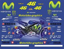 2016 MOVISTAR ROSSI  Moto  GP Full race decals graphics Stickers Kit