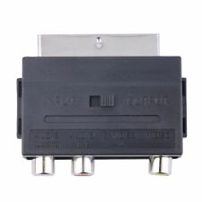 Hot Sale RGB Scart to Composite 3RCA S-Video AV TV Audio Adapter Syt