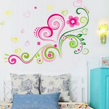 3D 50*70cm Pink Love Heart Flower Wall Stickers Decal For Home Room DIY Decor