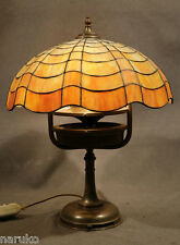 A RARE ONE MOST UNUSUAL GORHAM LEADED GLASS LAMP w/AC FAN INTEGRAL  IN ITS BASE
