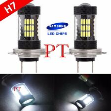 H7 Samsung LED 57-SMD Super White 6000K Headlight Xenon 2x Light Bulbs High Beam