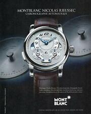 ▬► PUBLICITE ADVERTISING AD Montre watch MONTBLANC Nicolas Rieussec