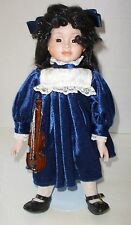 Doll by Heritage Mint Fine Porcelain America's Victorian Doll with Violin New