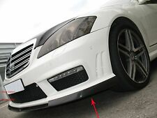 Carbon Fiber Front Lip Spoiler T Style For Benz W221 S63 S65 2010-2012