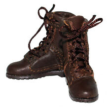 "Did Tall Brown Leather Boots with Laces for 12"" Male Figures 1:6 Scale (2110f3)"