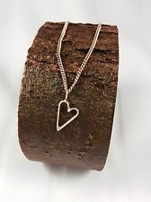 Solid 9ct Rose Pink Gold Heart Pendant - Small