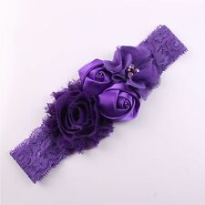 Lace Rose Flower Design Headwear Headwrap Hair Ribbon Hair Band Headbands
