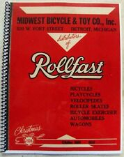 classic 1939 1940 MIDWEST BICYCLE & TOY CO Rollfast Catalog of antique bikes