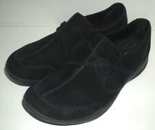 Clarks Womens Wave Run Black Suede Slip On Comfort Loafer Nubuck Leather 10M
