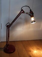 Vintage style heavy anglepoise lamp  red minimalist task light working