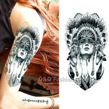Gypsy Indian Witch Chief Arm Leg Body Art Waterproof Temporary Tattoo Sticker