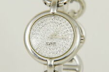 Beautiful ESPRIT Stone Set Dial All Steel Quartz Ladies Watch (N97)