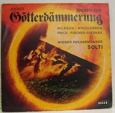 """WAGNER GÖTTERDÄMMERUNG NILSSON WINDGASSEN FISCHER-DIESKAU SOLTI 12"""" LP (d991)"""